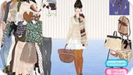 Игра Одевалка девочки на зиму