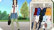 Игра Одевалка школ