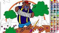 Игра Раскраска медведем