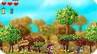 Игра Ёжик собирает яблоки