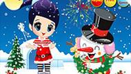 Игра Одеваем снеговика