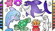 Игра Морская раскраска