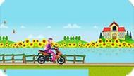 Игра Мотоцикл для Барби