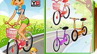Игра Девушка на велосипеде