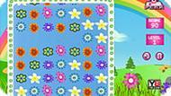 Игра Три в ряд с цветами