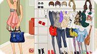 Одевалка модной девочки