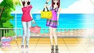 Игра Одевалка две сестры
