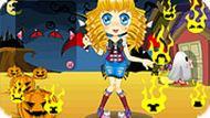 Игра Хэллоуин для девушки