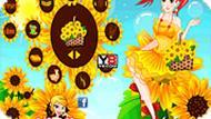 Игра Девушка с цветами