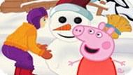 Игра Свинка Пеппа: Снеговик