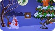 Игра Снеговик в лесу