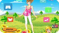 Игра Девочка на полянке