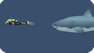 Игра Акула против водолазов