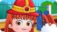 Игра Малышка Хейзел пожарный