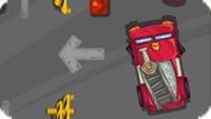 Игра Пожарная машина: парковка