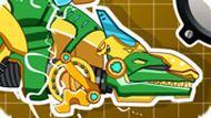 Игра Собрать механического-трансформера Динозавра