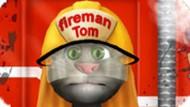 Игра Вымыть пожарную машину Кота Тома