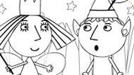 Игра Бен И Холли: Раскраска-рисовалка