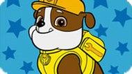 Игра Щенячий патруль: Раскраска Крепыш