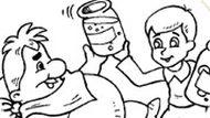 Игра Малыш И Карлсон раскраска
