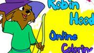 Игра Робин Гуд раскраска для детей
