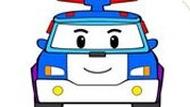 Игра Робокар Поли 6: Раскраска — Для Детей