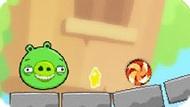 Игра Bad Piggies 9: Перережь Веревку