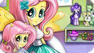 Игра Девушки Эквестрии: Детские Занятия С Флаттершай