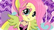 Игра Девушки Эквестрии: Флаттершай В Стиле Rainbow Rocks