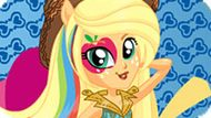 Игра Девушки Эквестрии: Эпплджек В Стиле Rainbow Rocks