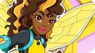 Игра Девушки Супергерои 5: Бамблби Одевалка