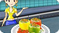 Игра Кухня Сары 3: Фаршированные Перцы