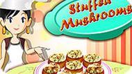 Игра Кухня Сары: Фаршированные Грибы