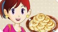 Игра Кухня Сары: Готовить Яблочные Пончики