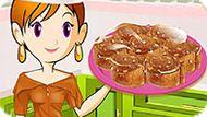 Игра Кухня Сары: Карамельные Роллы
