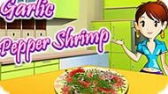 Игра Кухня Сары: Креветки С Чесноком И Перцем