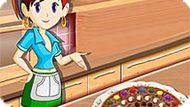 Игра Кухня Сары: Шоколадная Пицца