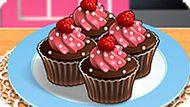 Игра Кухня Сары: Шоколадные Капкейки С Малиной