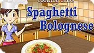 Игра Кухня Сары: Спагетти Болоньезе