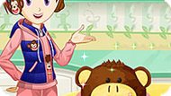 Игра Кухня Сары: Торт-Обезьяна