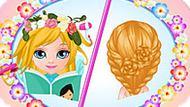 Игра Малышка Барби 3: Цветочные Прически
