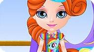 Игра Малышка Барби: Дизайн Платья С Принтом Пони