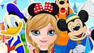 Игра Малышка Барби Едет В Диснейленд