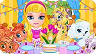 Игра Малышка Барби И Животные Готовятся К Вечеринке