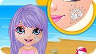 Игра Малышка Барби: Летняя Татуировка