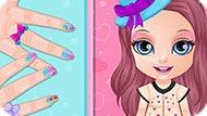 Игра Малышка Барби: Маникюр Ломбер
