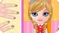 Игра Малышка Барби: Маникюр В Стиле Каваи