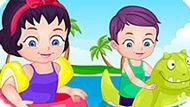 Игра Малышка Барби: На Пляже