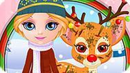 Игра Малышка Барби: Раны Рудольфа