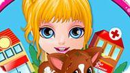 Игра Малышка Барби: Травмированное Животное
